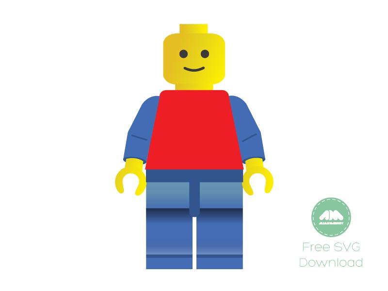 Lego Man Vector lego brick vector free svg lego man freebie