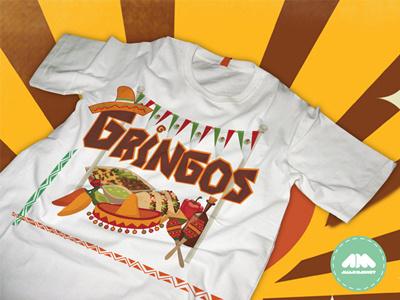 Gringos T-shirt gringos tee mexico tshirt mexican