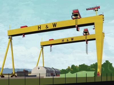 Samson & Goliath of Belfast belfast samson goliath cranes harland wolff landmark