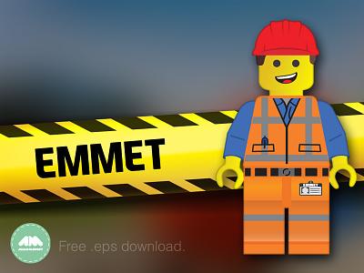 Emmet Lego Movie Free Vector freebie emmet lego eps lego movie man