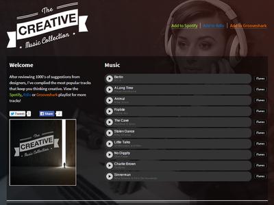 Creative Music music itunes spotify rdio dark