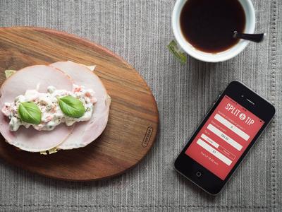Split & Tip free app ios design food tip split iphone split and tip freebie