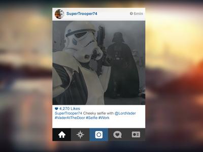 Strom Trooper Selfie just for fun star wars stormtrooper selfie