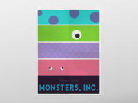 Movie Poster - Monsters Inc