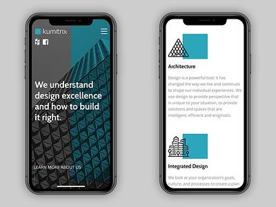 Kumitrix - Mobile layouts case study ui website web design mobile layout mobile responsive design responsive design architecture