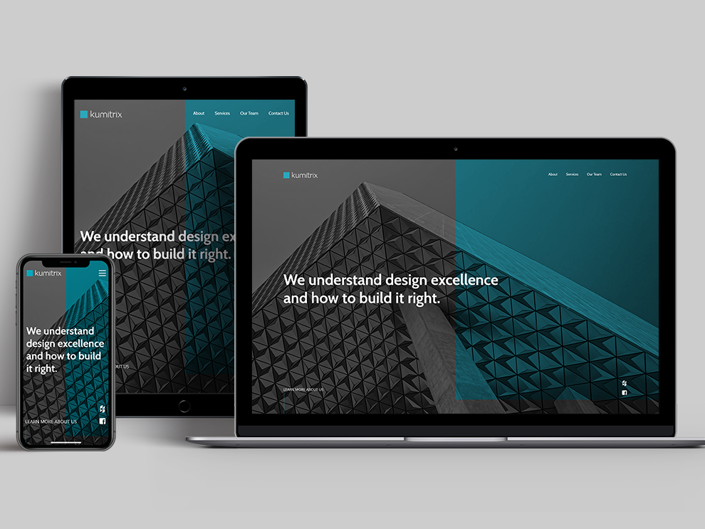 Kumitrix - Responsiveness branding mobile layout mobile responsive responsive design ui landing page website web design design architecture case study