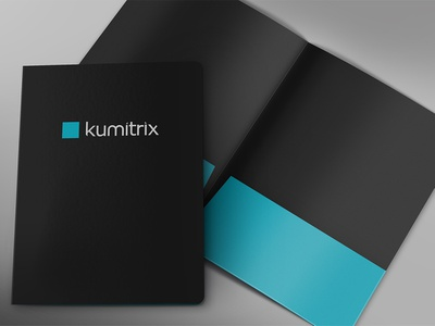 Kumitrix - Folder folders mockup blue dark grey clean minimal folder design folder branding design architecture