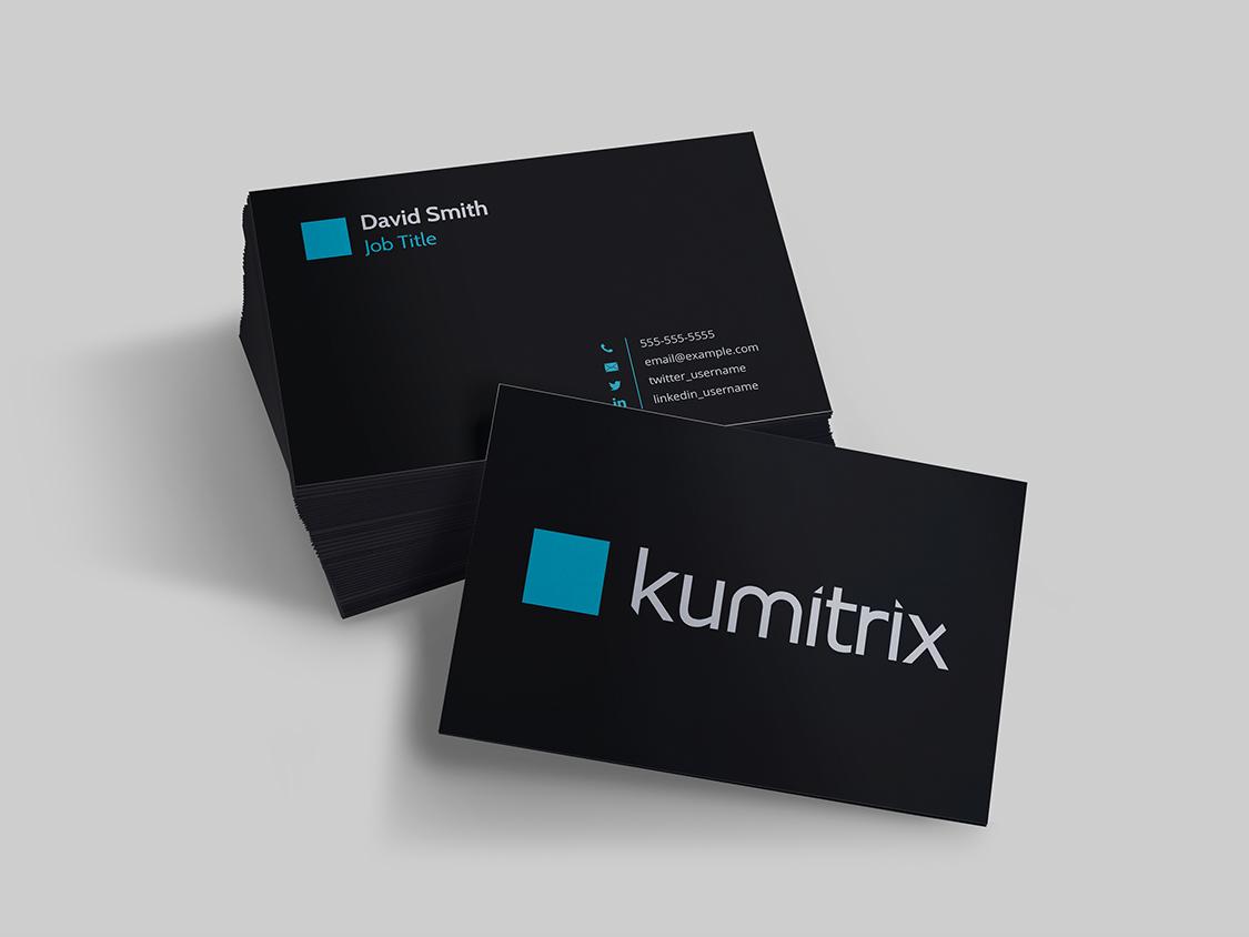 Dribbble kumitrix businesscard