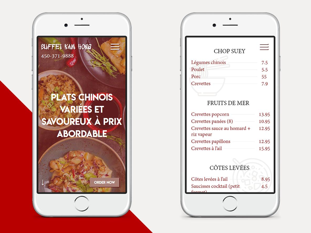 Buffet Kam Hong - Mobile layouts ux chinesebuffet restaurant ui web design website mobile mobile layout case study design responsive design responsive
