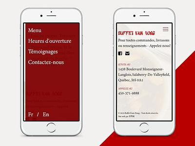Buffet Kam Hong - Mobile layouts 2 chinesebuffet restaurant ui web design website mobile mobile layout case study design responsive responsive design ux