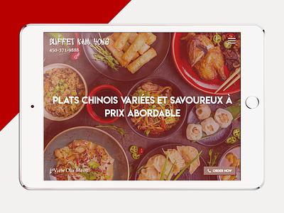 Buffet Kam Hong - Tablet layout landing page restaurant ux design responsive design mobile layout user interface website ui responsive web design mobile tablet