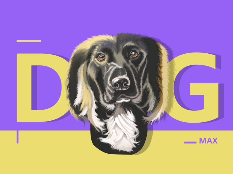 just a pup web painting illustration design