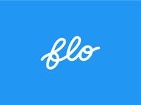 flo wordmark identity branding logo flo flow script