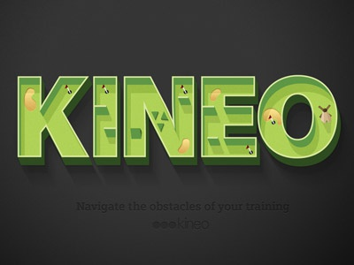 golf anyone? golf kineo logo typography green 3d