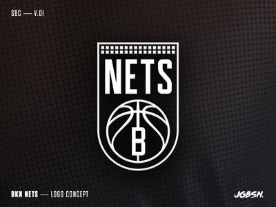 BKN — Logo Concept typography basketball type identity black team sport branding logo brooklyn nets nba