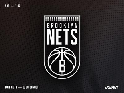 BKN — Logo Concept nba nets brooklyn logo branding sport team black identity type basketball typography