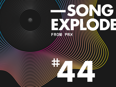 Song Exploder — #44 poster design typography futura record lines waves song exploder podcast music song