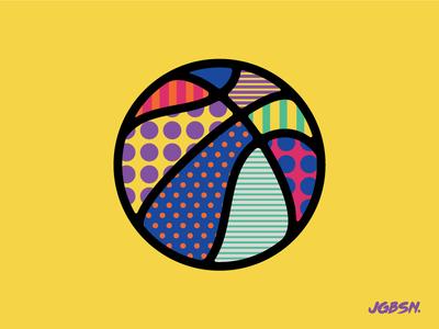 NBA — All Star 2018 branding neon illustration dunk baller icon line sport basketball nba pattern
