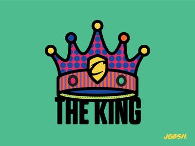 NBA All Star — LeBron James lebron branding neon illustration crown king icon line sport basketball nba pattern