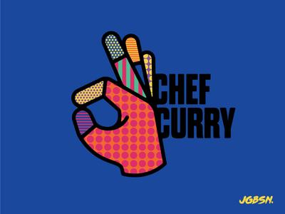 NBA All Star — Stephen Curry pattern nba basketball sport line icon ok three illustration neon branding hand