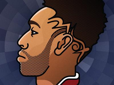 No.14 — Aubameyang avatar face icon illustration line gooner football soccer player profile arsenal portrait