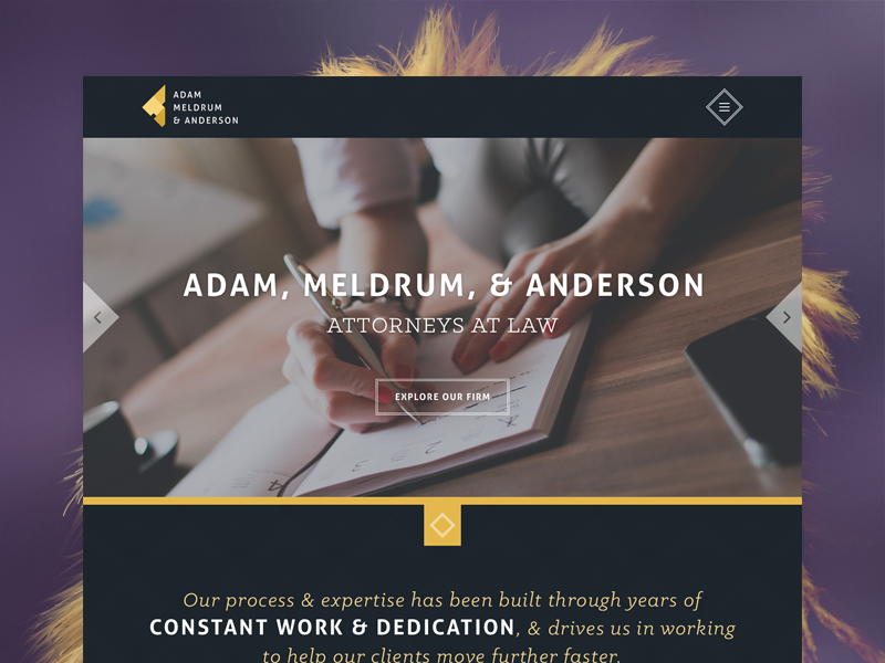 AMA Law Firm web web-design website branding law lawyer ui attorney firm