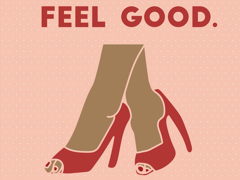 Feel Good type lettering mobile icon web typography icons logo graphic design brand minimal illustrator identity flat design art clean character animation illustration