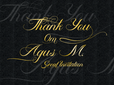 Lettering Thank You Om Agus M ambergris font swashes opentype lettering moderncalligraphy fonts font feydesign calligraphy typography