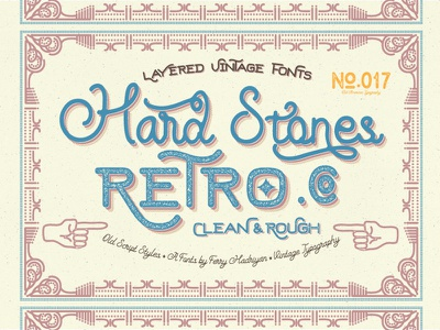 Hard Stones Free Font script retro vintage logotype letering letter typography font freefont feydesign hardstones free font