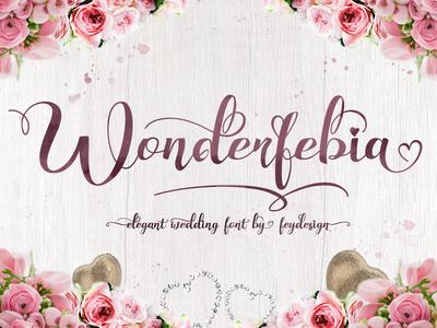 Wonderfebia - Modern Calligraphy Font script fonts script swashes fonts font lettering typography wedding font modern calligraphy calligraphy wonderfebia