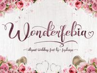 Wonderfebia - Modern Calligraphy Font