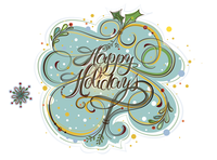 Holiday Card in blue