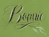 2-C inked Monogram with Flourish