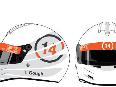 Helmet livery livery racing automotive racecar helmet vinyl