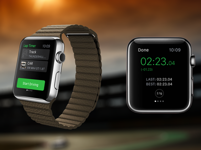 LapTimer Watch Companion  watch apple apple watch ui ux mobile
