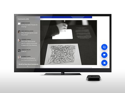 Behance for Apple TV tvos tv apple tv design behance ux ui