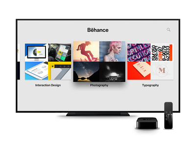 Behance for Apple TV tv tvos behance appletv