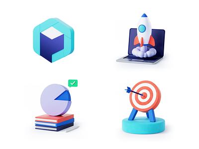 Product 3D icons logo product 3d icons design ui 3d c4d illustration 3d illustration branding cinema 4d octane render