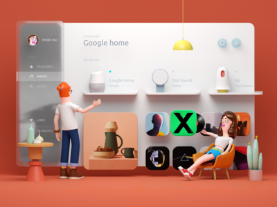 Smart Home Dashboard _ red