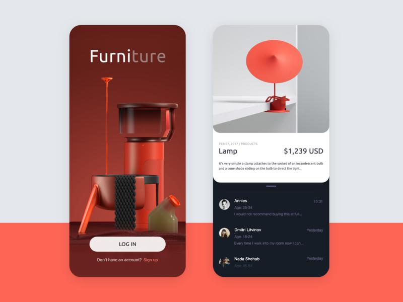 Furniture App Concept By Vivivian For Vitality Studio On Dribbble