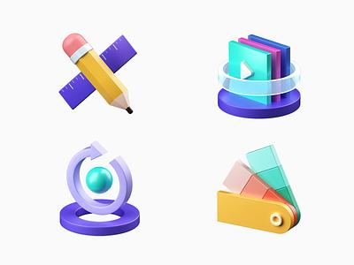 uMake  icon #02 octane popup logo graphic ipad ios ux branding illustration umake icon app c4d dribbble 3d ui design