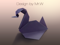 A paper crane