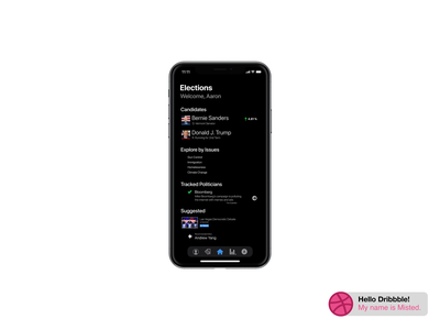 Mockup Elections iOS App minimal flat design app ui