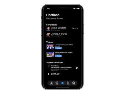 Mockup Elections iOS App (Rev1) ui minimal flat design