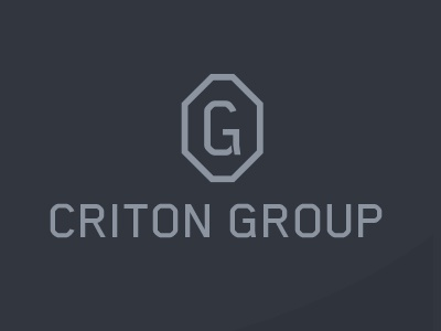 Criton Group modern logo crisp simple initials risk intelligence