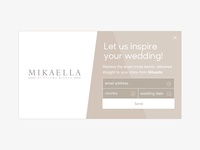 Mikaella email Popup
