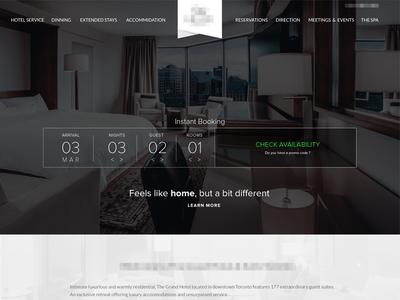 Hotel Project hotel website uiux room toronto