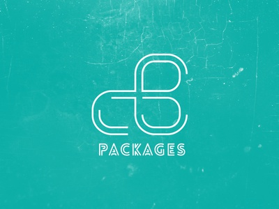 Cb Packages branding logo identity logotype clean modern