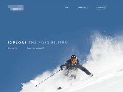 Skiing Site ui design website