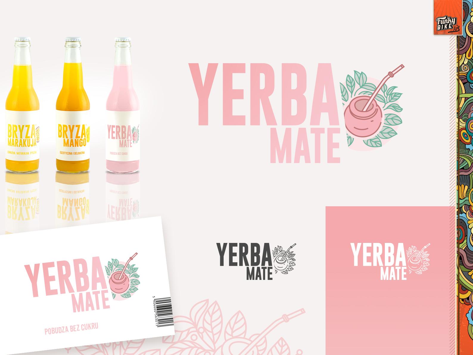 Bryza Yerba Mate tea yerba mate label design logo design logo design package design branding